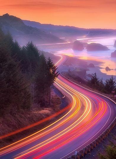 Pistol River Sunrise....on the southern coast of Oregon. Photographer Chip Phillips.
