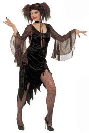 Gotisk kjole til Halloween kr. 325,-