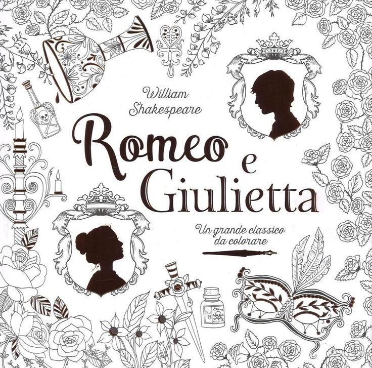 Libro Romeo e Giulietta. Un grande classico da colorare da William Shakespeare  0