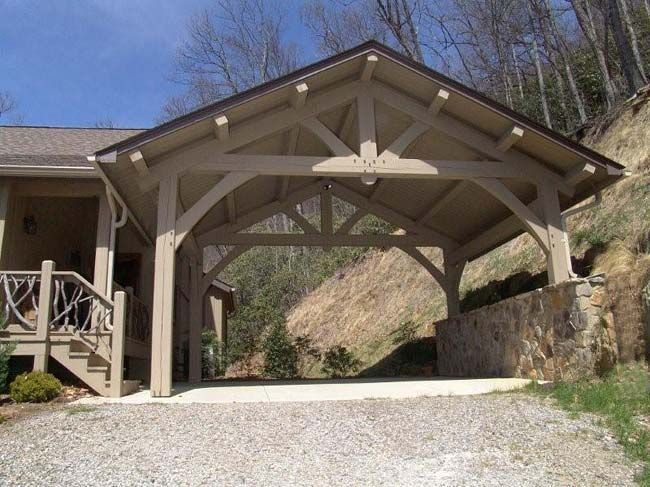 Image Result For Detached Carport Surrounded By Retaining Wall Carport Carport Designs
