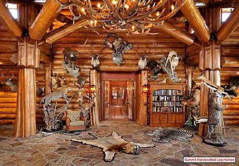 log home decorating