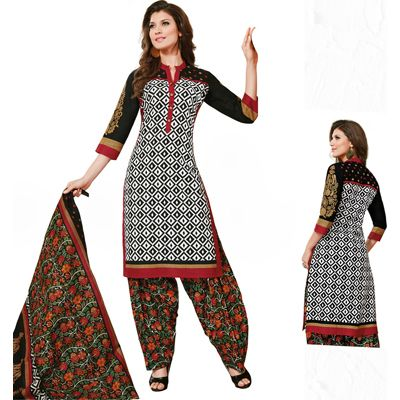 Buy Pari White Cotton Dress Material by Agate Business Services Private Limited, on Paytm, Price: Rs.899?utm_medium=pintrest