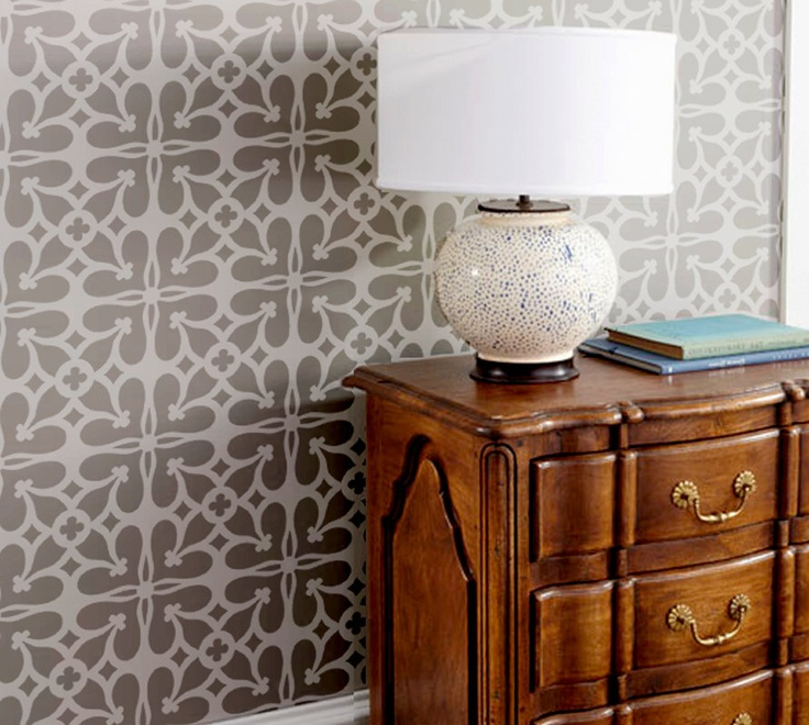 Wall Stencil Ironwork Lattice Trellis Quaterfoil  Pattern Wall Room Decor Made by OMG Stencils Home Improvements Color Paintings 0014. $37.00, via Etsy.