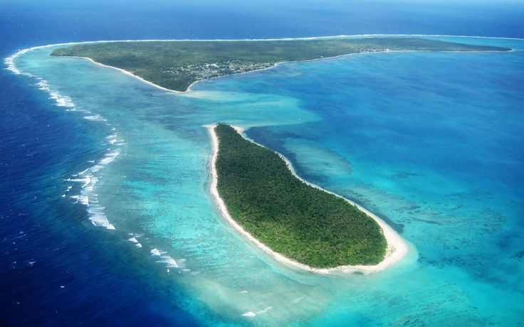 Ha'apai Islands, Tonga. There are 62 islands in this group, only 17 are inhabited. Vivid barrier reefs, swathes of pink coral and beautiful blue lagoons. Some of the islands are volcanic. They are as close to peaceful as you can get.