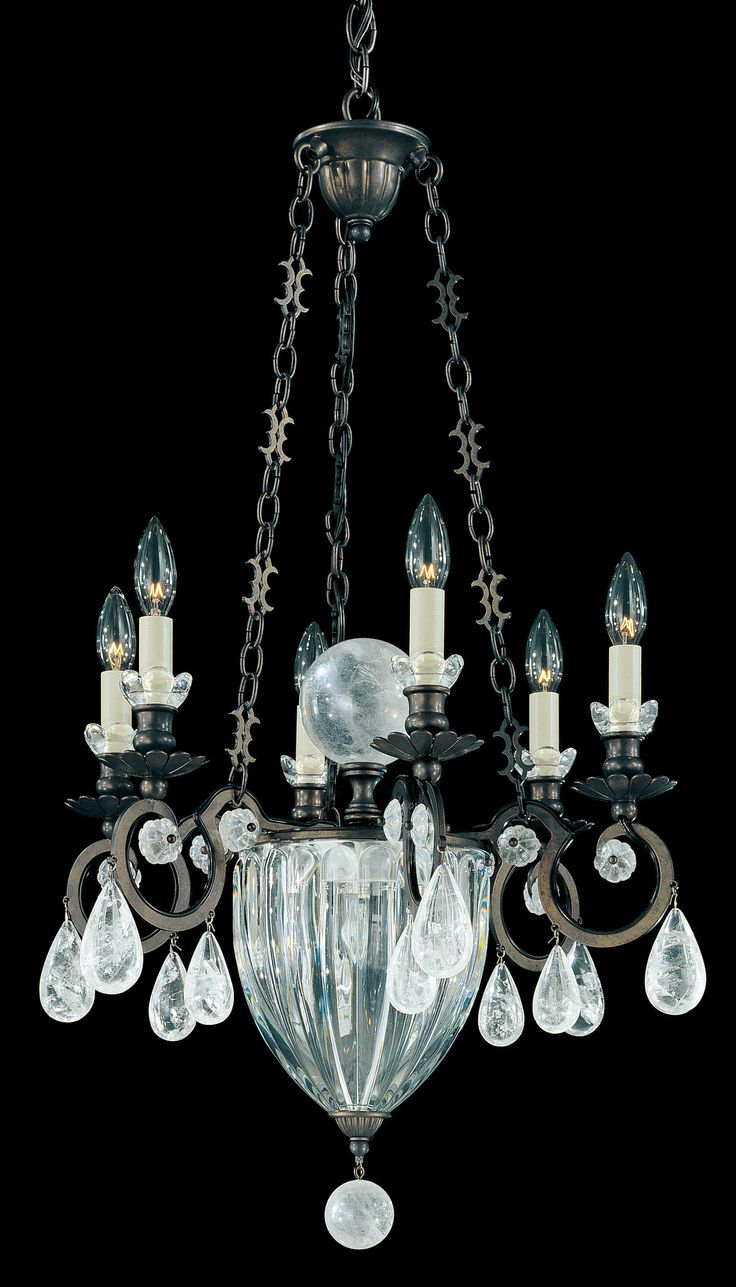 Vendome Is An Eclectic Design That Showcases Ancient Rock Crystal In Entirely New Way At The Heart Of Chandelier A Huge Orb