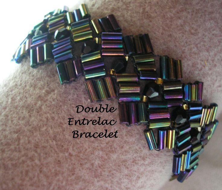 Bugle Bead Entrelac Bracelet_e_0Ftp - via @Craftsy
