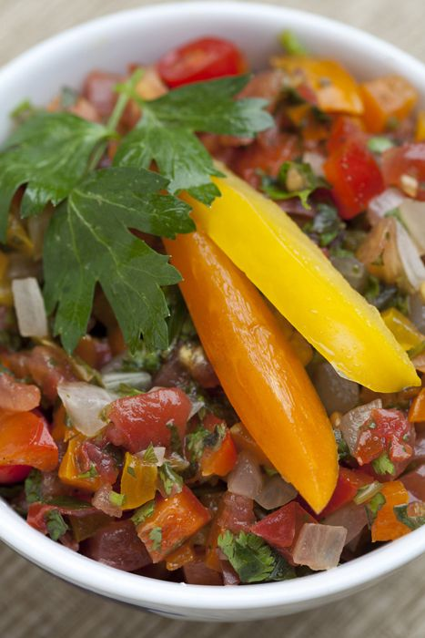 Get my mom's salsa recipe, which has bell peppers for a boost of ...