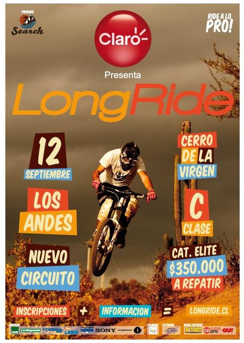 Afiche Modalidad DH, Copa LongRide MTB.