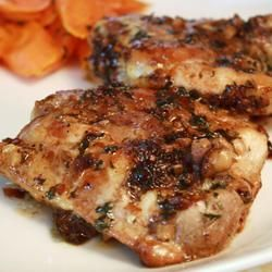 (SAW) Easy Garlic Broiled Chicken Allrecipes.com..made tonight for BD and I, but used approximately 15 whole cloves of garlic....