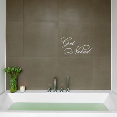 get naked bath time quote wall decals