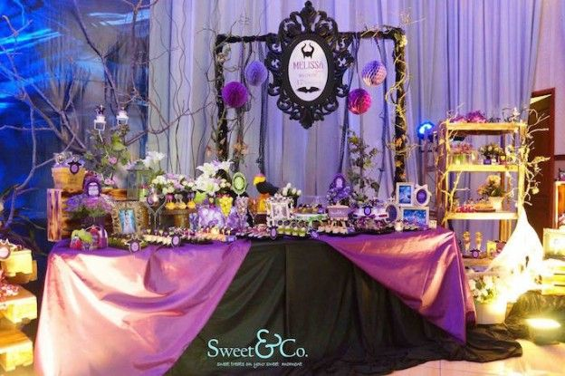 Maleficent Themed 17th Birthday Party via Kara's Party Ideas KarasPartyIdeas.com The Place for All Things Party! #maleficent #maleficentparty #sleepingbeauty #maleficentpartyideas (8)