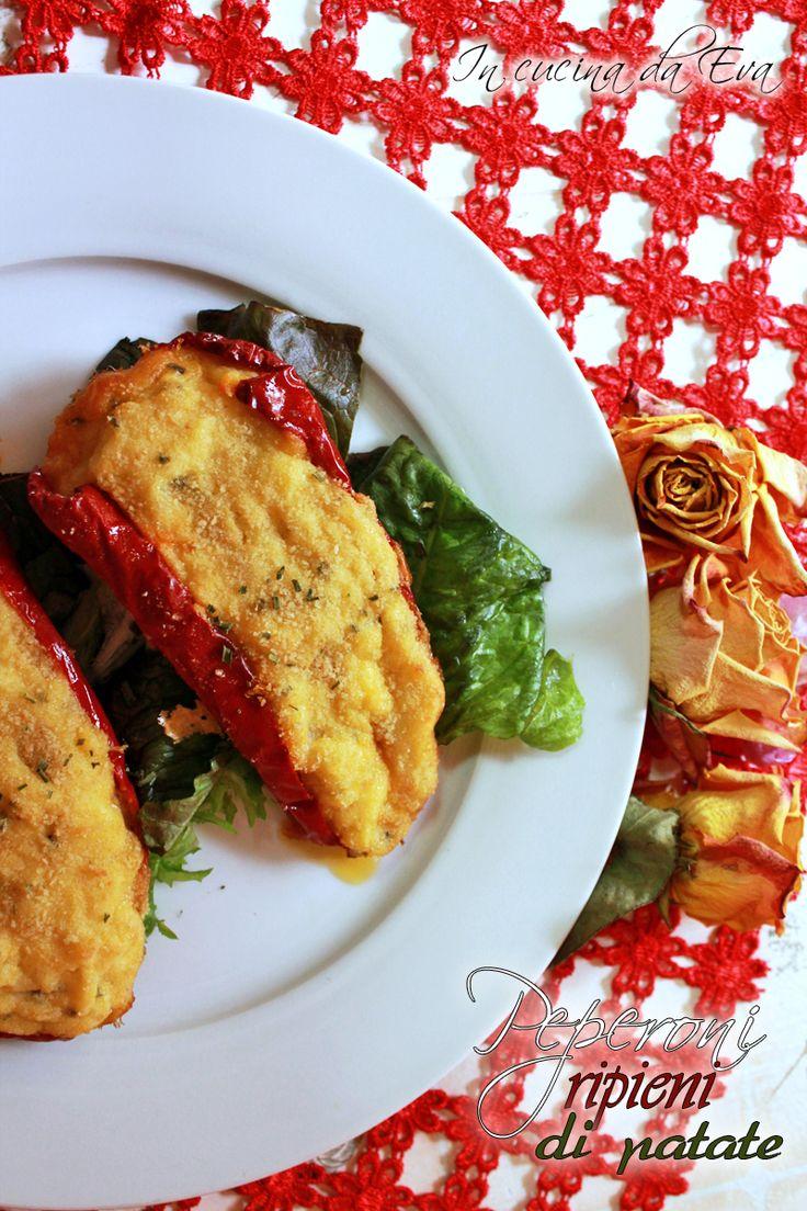 Peperoni ripieni di patate la nuova ricetta per la rubrica da domani a dieta un piatto vegetariano gustoso e veloce da preparare.
