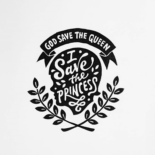 God save the queen i save the princess    .  Pen on paper.  Be inspired.  #queen #princess #creative #doodle #lettering #typography #calligraphy #words #quotes #illustration #art #design #ideas #inspirations #script #thedesigntip #handmadefont #goodtype ---------------------------------------------------- by abedazarya