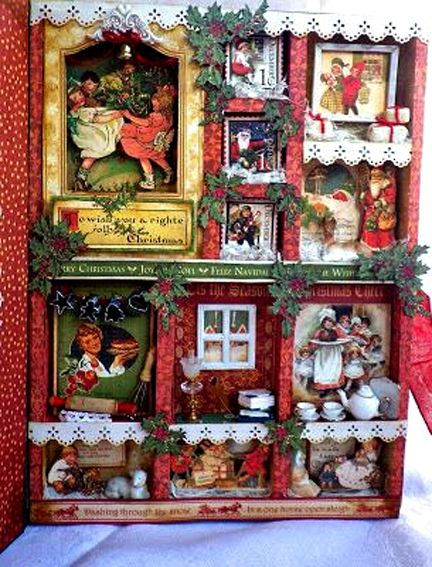 Graphic 45 Christmas project/ Christmas Emporium Configurations Box by Angelica