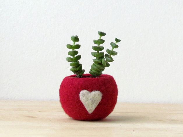 "The Globe planter - Turn Your Flower Pots Into Perfect Colored Globes  I present you ""the love pod"" A little cozy felt ball, perfect for your succulent and air plants. An organic pod shape to..."