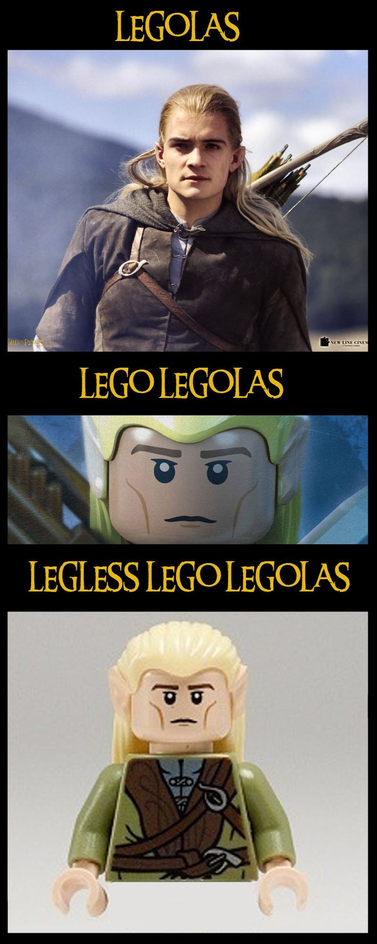 Haha! Oh Legolas...there are so many jokes for you ...