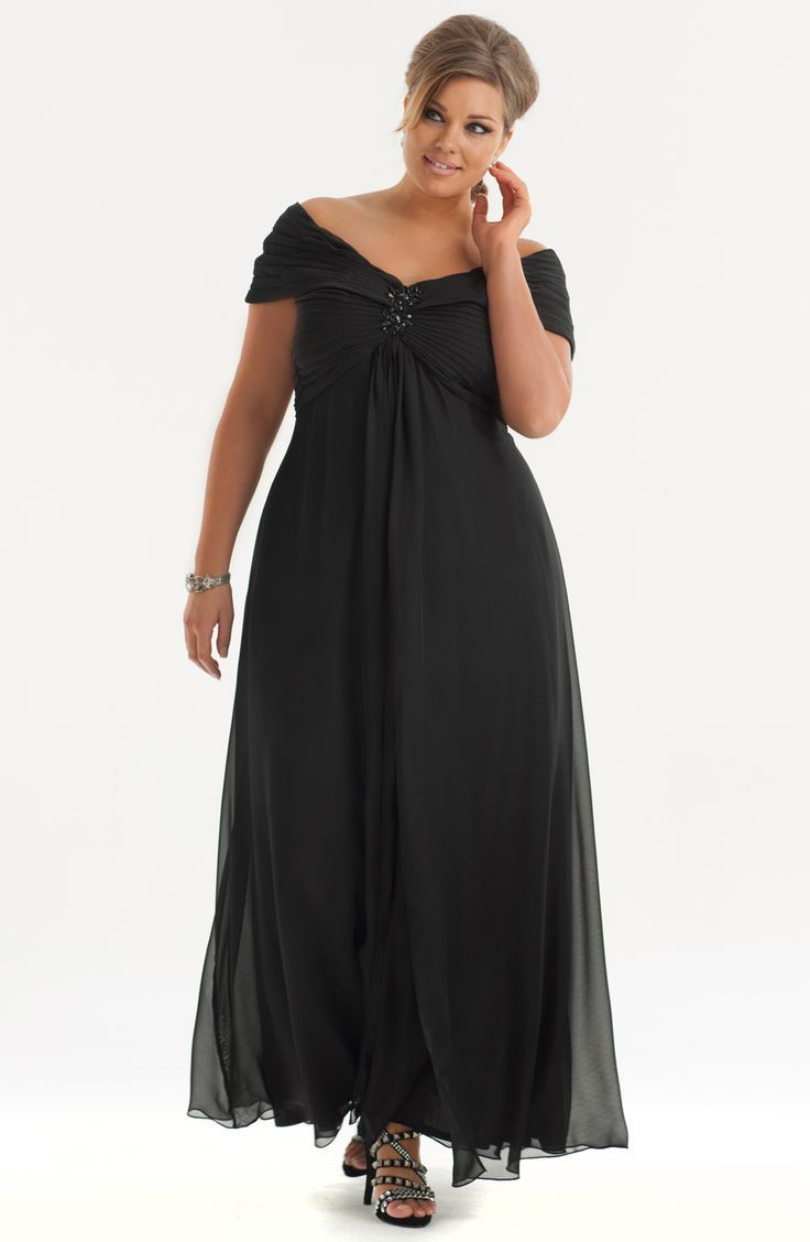 Plus-Size-Bridesmaid-Dresses-black