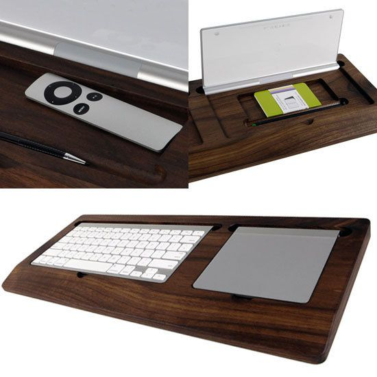 LOVE this tray to hold your wireless keyboard AND mouse. And it turns them into secret compartments too!