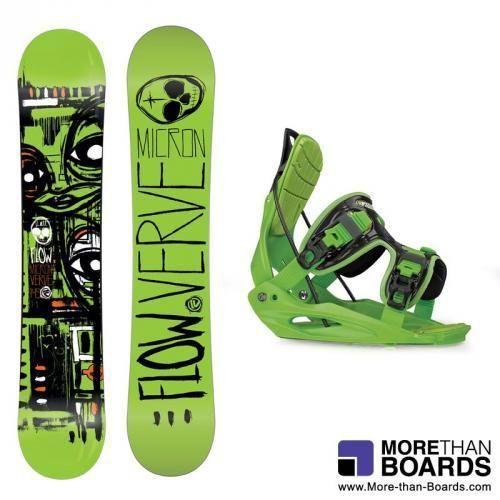 Flow MICRON VERVE & MICRON YOUTH Snowboard-Set Youth 2014 - Neu!!!