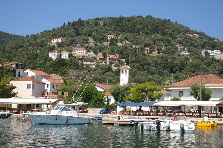 the tranquil village of Kioni, Ithaca