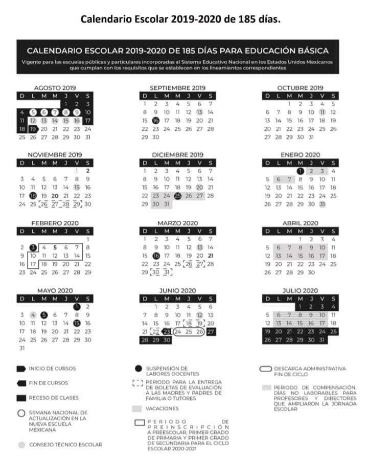 Calendario Escolar 2020 Sep Cdmx.Pin En Regreso A Clases