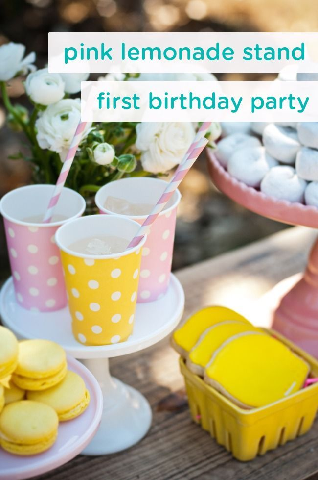 Celebrate the sunshine in your life—your adorable little girl—with this pink lemonade stand-themed first birthday party. With sweet and bright decoration ideas, desserts, and party favors, this is a great idea for a spring or summer birthday.
