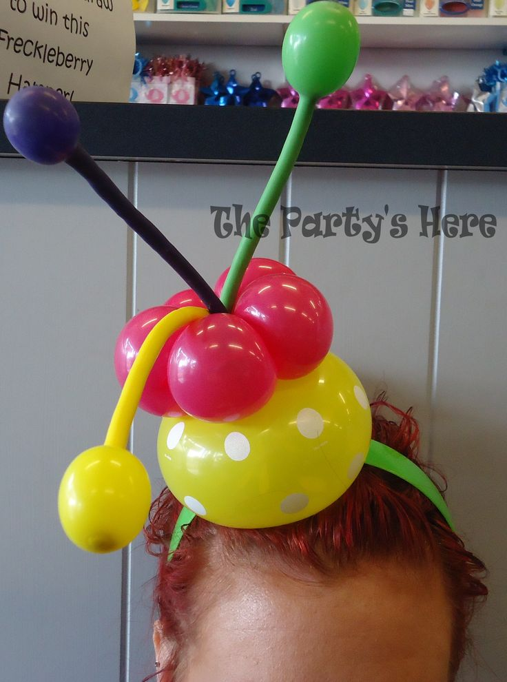 Polka Dot fun! Balloon Headband we made after going to Ozjam 2014 in Sydney, a balloon convention for twisters & decorators. Great for all occasions!  www.thepartyshere.com.au