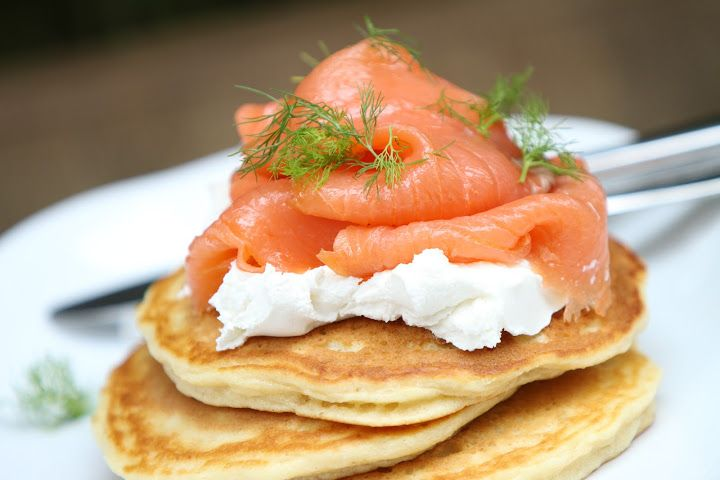 Salmon and Cream Cheese Pancakes by California Bakery
