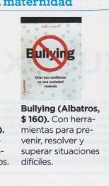 """La revista """"Ser Padres"""" de Argentina recomienda """"Bullying, criar con confianza en una sociedad violenta"""", ed. Albatros."""