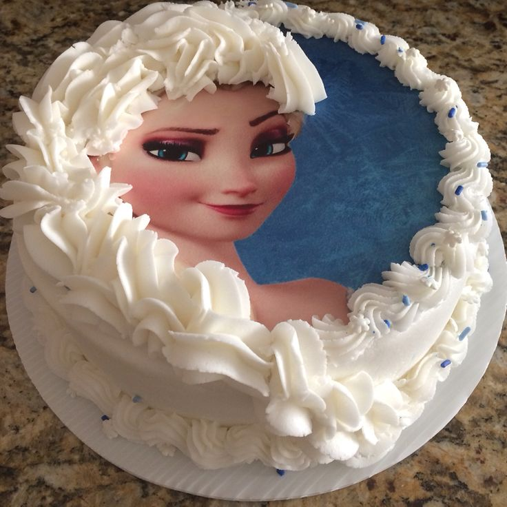 Edible Cake Images Elsa : Elsa edible image cake with braid #edibleimage #Frozen ...