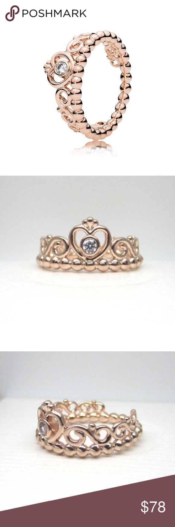 Pandora Princess Rose Gold Ring Pandora Princess Rose Gold Ring Authentic & Brand New Pandora Princess Rose Gold Ring in choice of size: -5/50 -6/52 -7/54 -7.5/56 -8.5/58 = Retails for $90 + tax in stores Ring is Sold out in stores! Comes with Pandora paper box for gifting and making this the perfect gift for any occasion. If you are searching for something specific in Pandora please let me know and I'll do my best to find it for you at the best price possible. Pandora Jewelry Rings