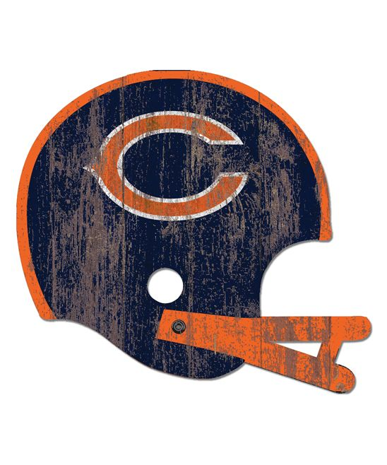 Chicago Bears Distressed Helmet Cutout