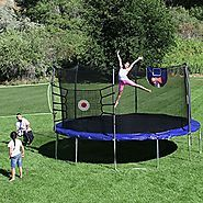 Cheap Trampoline With Basketball Hoop | Skywalker Trampolines Trampoline Sports Arena, 15' Round