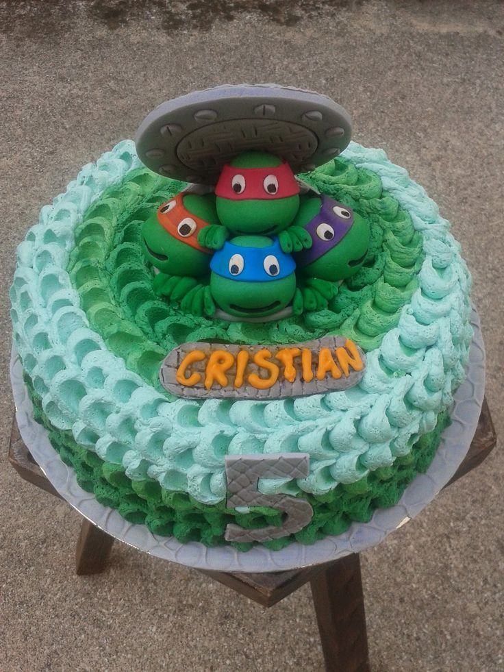 MUM CAKE FRELIS: Tartarughe ninja alla riscossa!!!!