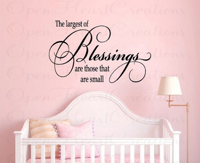 Nursery Wall Quotes   Baby Nursery Vinyl Wall Decals   Baby Sayings For  Nursery   Girl Or Boy Nursery Decor (LARGE) X