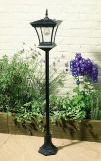 Solar Powered Lamp, Solar Lamp Post, English Gardens, Lamp Light, Front  Walkway, Light Posts, Garden Ideas, Outdoor Ideas, Lawn