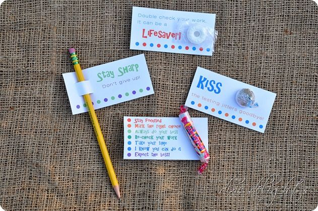 School Day Treats {Free Printables} - Great for lunch box surprise or for special testing days