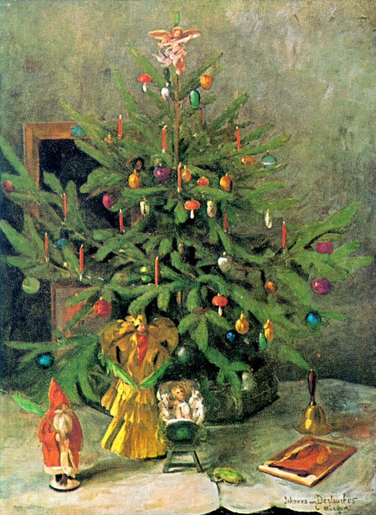 Christmas card, painting by Johanna von Destouches (1869-1956) Enjoyed by www.mygrowingtraditions.com