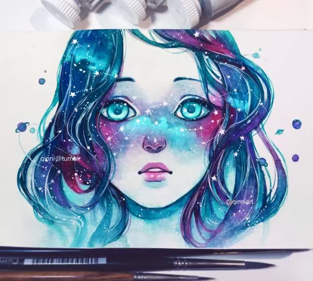 "qinni: "" ""Her face was like the night sky…you could almost trace out the constellations with her star-like freckles…"" 12 minutes HD version Instagram 