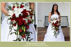 I love this cascading bouquet!  I would just add little white roses & some gardenia for fragrance!