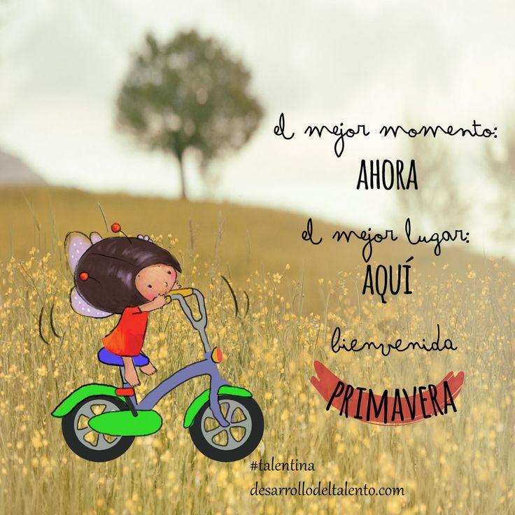 """#Talentina """"El mejor momento AHORA, el mejor lugar AQUÏ"""" #naturaleza #educación #valores"""