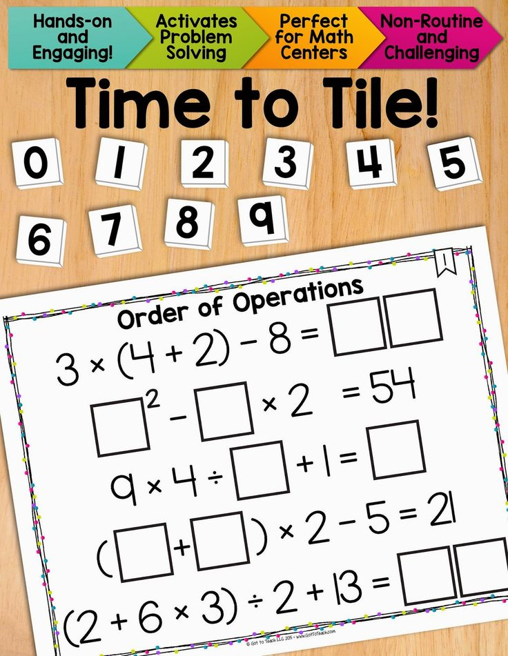 60 best Order of Operations images on Pinterest | Math middle school ...