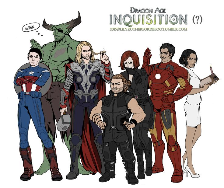 Dragon age : The avengers by LilyRutherford.deviantart.com on @DeviantArt