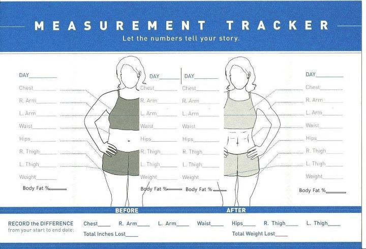 body measurement tracking chart printable
