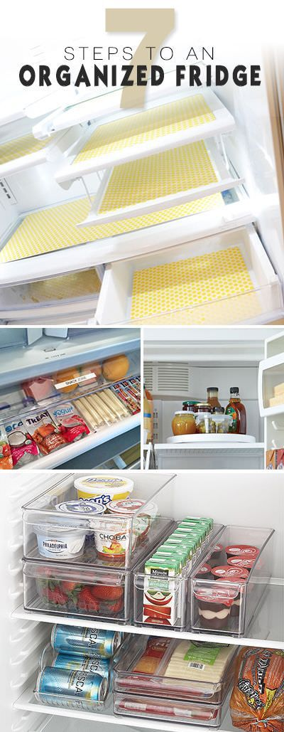 Cleaning the fridge refrigerator is a task that we often avoid, but with these 7 steps to an organized fridge you can do this easily!