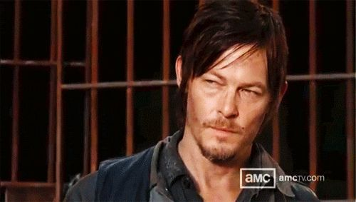 Pin for Later: 15 Reasons You'd Crawl Through a Field of Zombies to Get to The Walking Dead's Daryl Dixon When he puts Clint Eastwood's squint to shame.