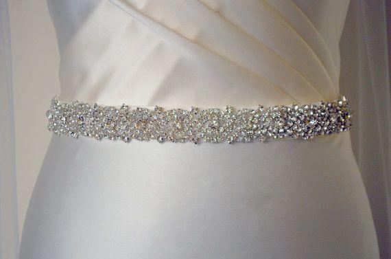 Embellished belt, All around, Bridal belt, wedding dress waistband, Wedding belt, crystal trim, bridal sash, diamante, beaded, dress belt