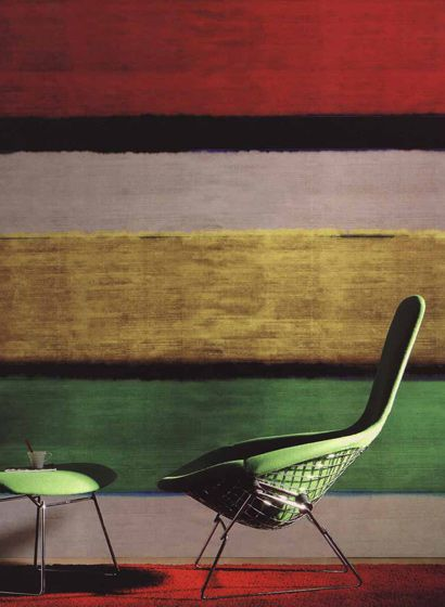 Expressive Farben: Wandbild Time will tell von Élitis