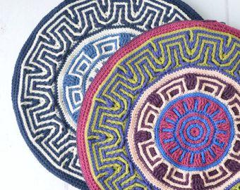 Crocheted Potholder PATTERN  round mandala pot holder
