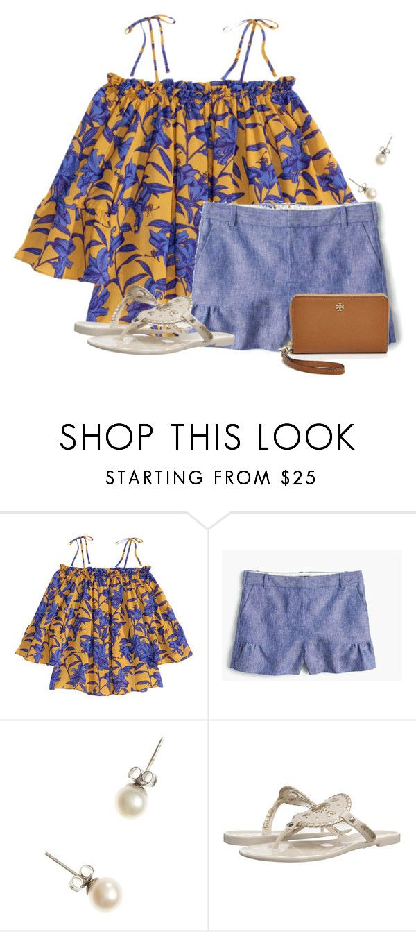 """""""WE HAVE NO SCHOOL TOMORROW!!! 4 DAY WEEKEND"""" by flroasburn ❤ liked on Polyvore featuring H&M, J.Crew, Jack Rogers and Tory Burch"""
